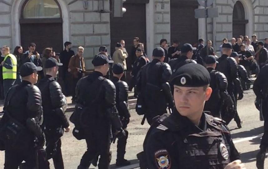 МВД: Внесогласованной акции вцентре столицы приняли участие около 250 человек
