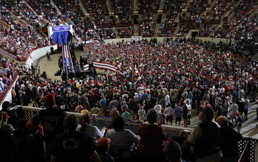 Трампа ездит по стране с туром, посвященным 100 дням правления. Фото Getty