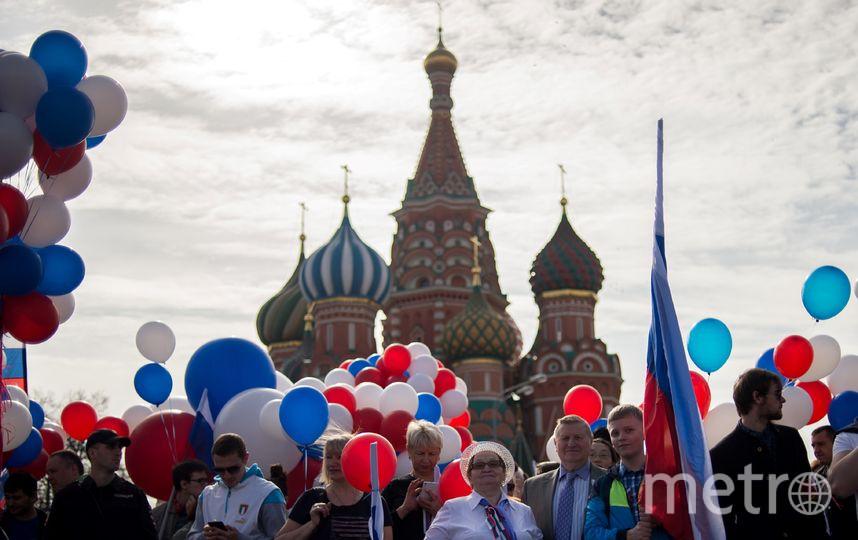 На Красной площади прошло торжественное шествие. Фото AFP