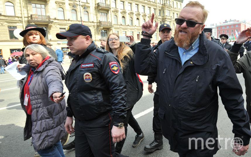 Виталий Милонов попытался вмешаться в шествие колонны ЛГБТ-сообщества.