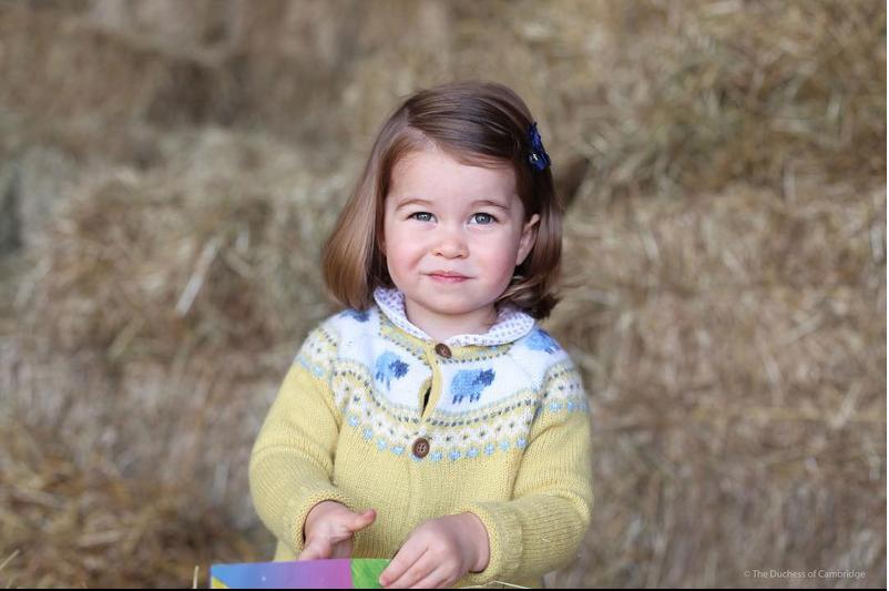 Шарлотта - дочь Кейт Миддлтон и принца Уильяма.