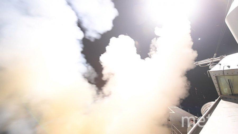 Ракетный удар по сирийской правительственной авиабазе Шайрат. Фото Getty
