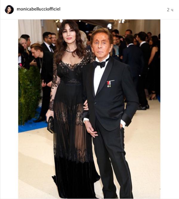 """Моника Белуччи в """"голом"""" платье. Фото Instagram"""