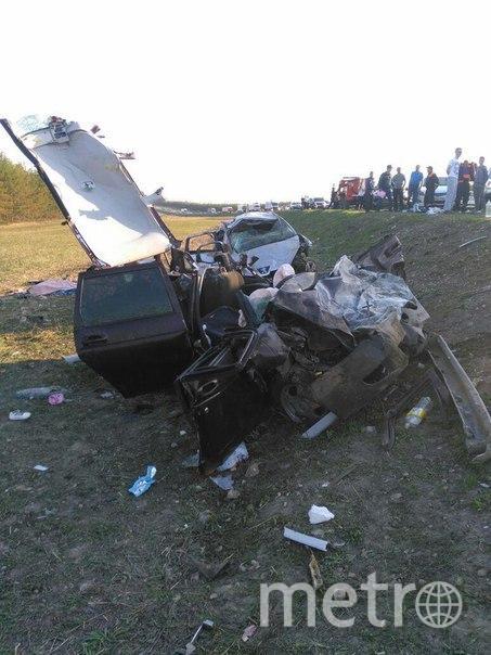 Фото с места аварии в Татарстане. Фото vk.com