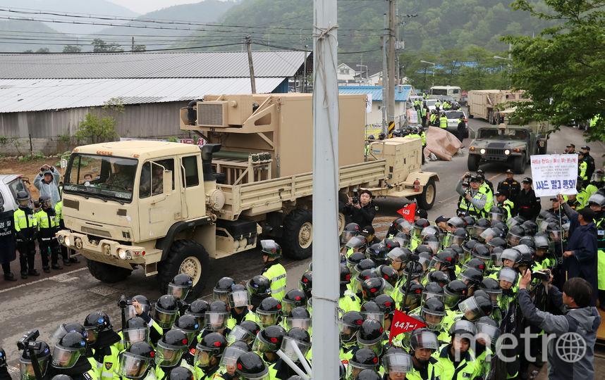 Система THAAD в Южной Корее. Фото AFP