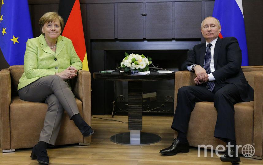 Встреча Владимира Путина и Ангелы Меркель. Фото AFP