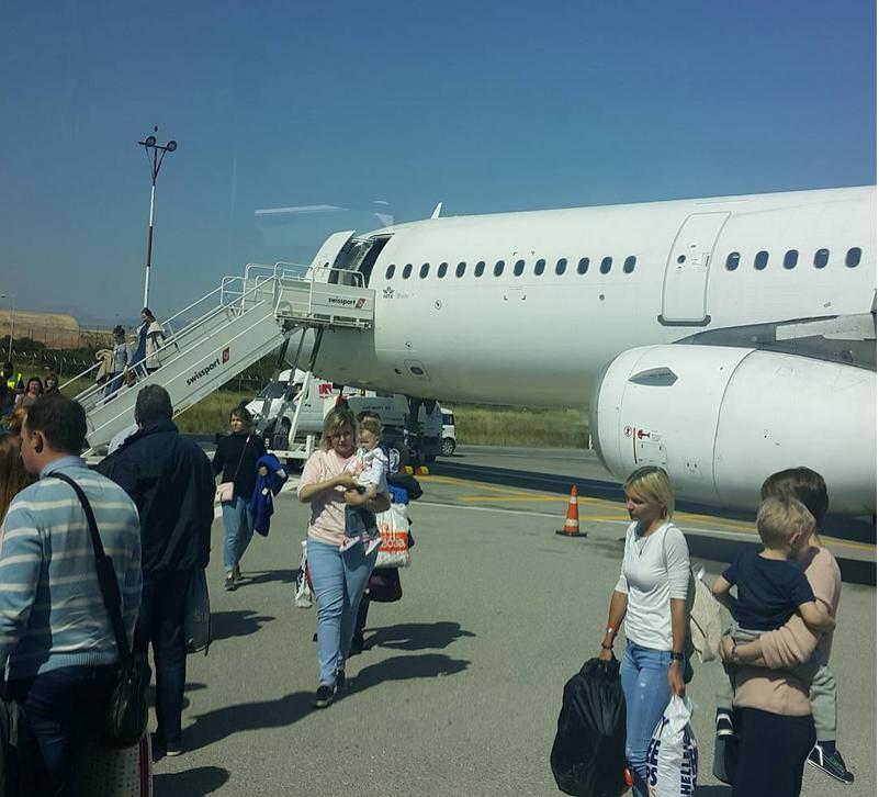 """По сообщению очевидца, самолет """"Ираклион-Петербург"""" падал почти 3 км. Фото Скриншот instagram.com"""
