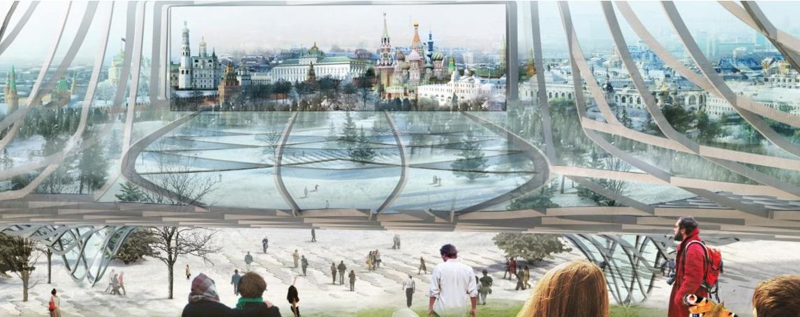 """Работы в столичном парке """"Зарядье"""" вышли на финишную прямую. Фото mos.ru"""
