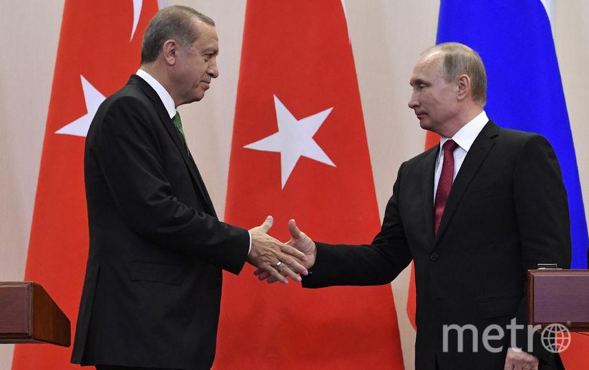 Переговоры Владимира Путина и Реджепа Эрдогана. Фото AFP