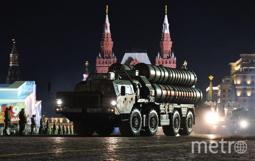 Последняя ночная репетиция Парада Победы в Москве. Фото AFP