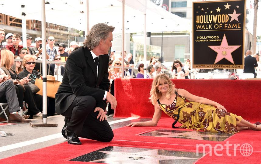 Курт Рассел и Голди Хоун получили свои звезды на Аллее славы. Фото Getty