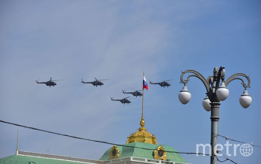Пролёт авиации на параде 9 мая в Москве (архивное фото). Фото Василий Кузьмичёнок