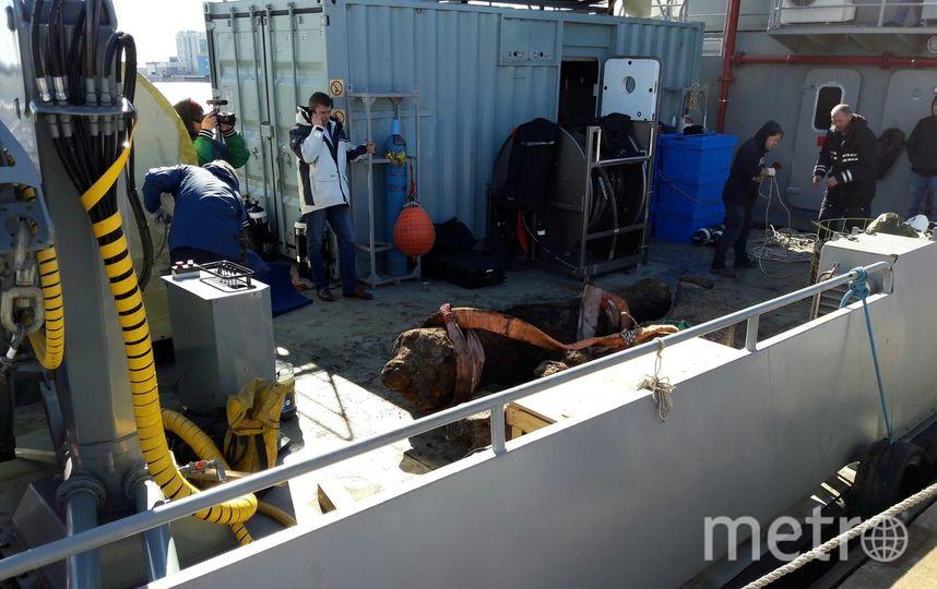 Содна Финского залива подняли пушку корабля «Портсмут»