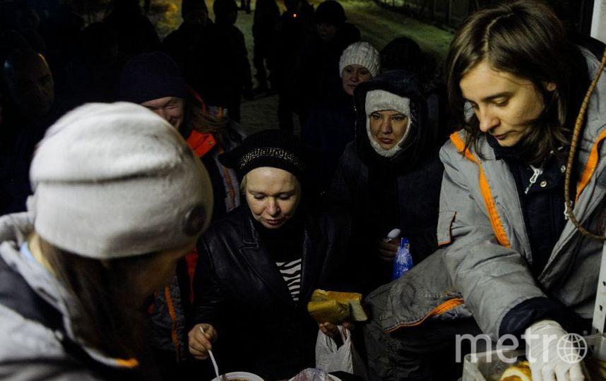 В Петербурге за апрель накормили более двух тысяч бездомных. Фото Отдел по связям с общественностью благотворительной организации Ночлежка.