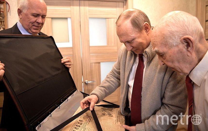 Владимир Путин на юбилее Лазаря Матвеева. Фото kremlin.ru