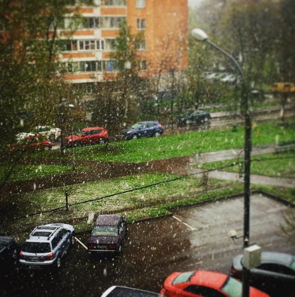 Погода в Москве. Фото Instagram/krutovskaya_tatiana