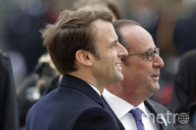 Франсуа Олланд и Эммануэль Макрон. Фото AFP