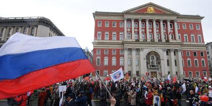 """Акция """"Бессмертный полк"""" в Москве. Фото AFP и Василий Кузьмичёнок"""