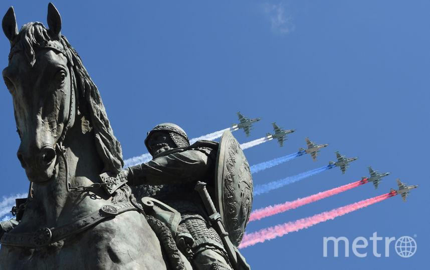 Пролёт авиации на Параде Победы в Москве (архивное фото). Фото AFP
