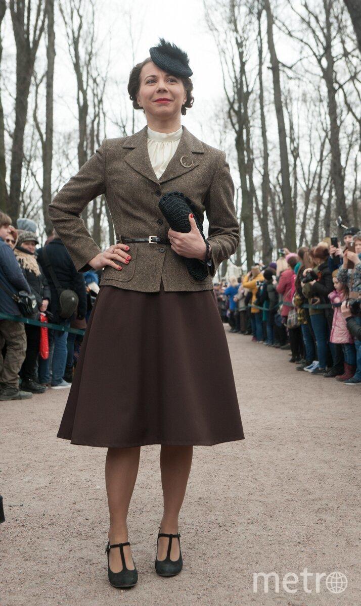 В Летнем саду показали моду 1945 года. Фото Все фото - Святослав Акимов