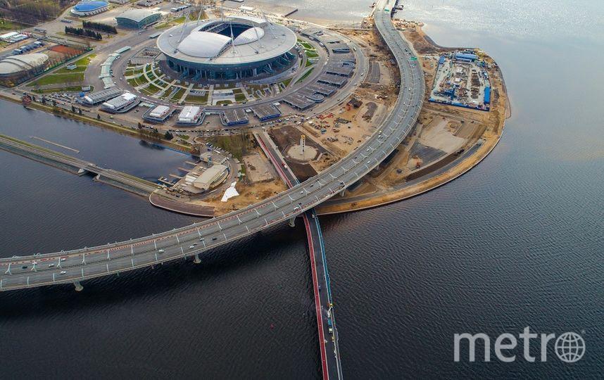 Впервые в Петербурге цветной асфальт применили в 2004 году. Фото krti.gov.spb.ru