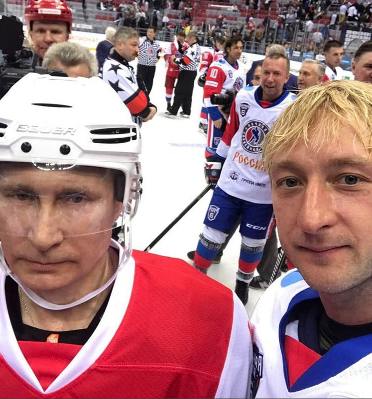 Евгений Плющенко назвал В. Путина самым спортивным президентом вмире