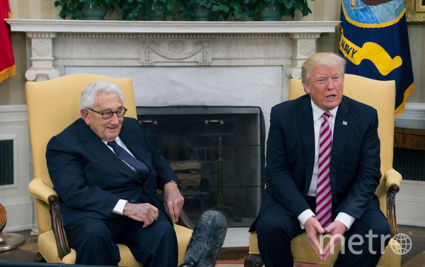 После встречи с Лавровым Трамп пообщался с Генри Киссинджером. Фото Getty