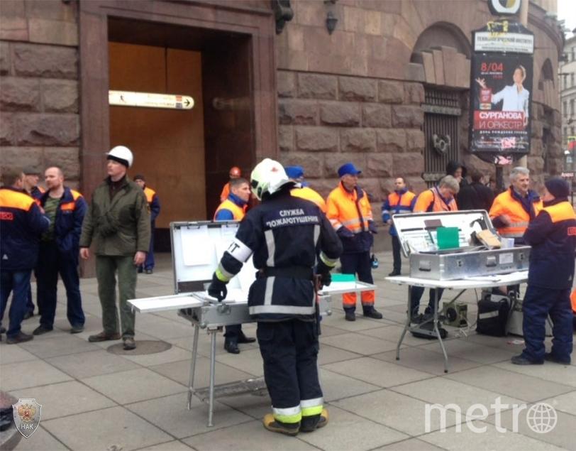 Фото с места теракта в Петербурге.