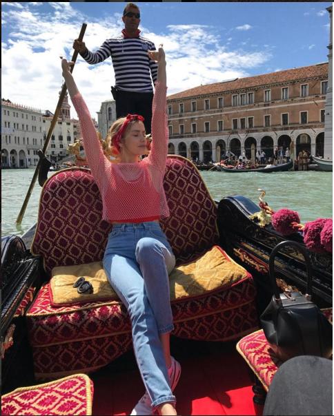 Знаменитости в Венеции. Елена Перминова. Фото Instagram