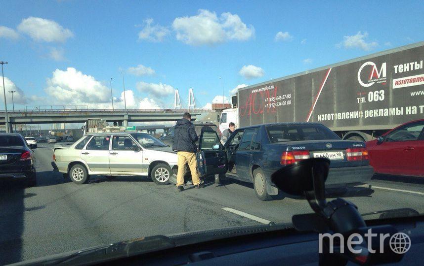 Из-за аварий наКАД 2-ой день собираются многокилометровые пробки