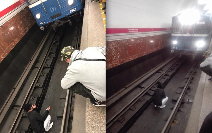 Настанции метро «Площадь Восстания» вПетербурге человек упал напути