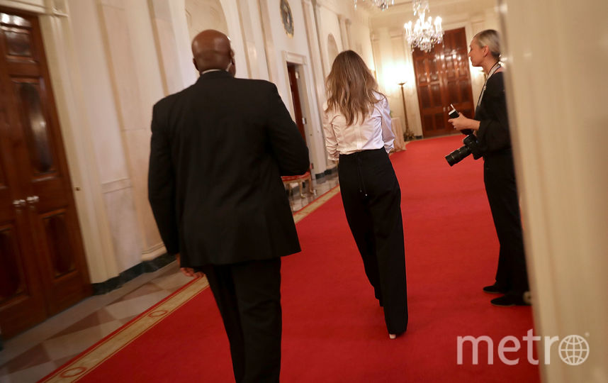 Трогательные фото поцелуя Мелании и Дональда Трамп появились в Сети. Фото Getty