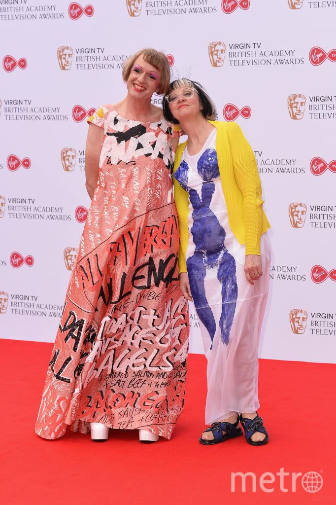 Грейсон Перри на красной дорожке премии BAFTA TV со своей женой. Фото Getty