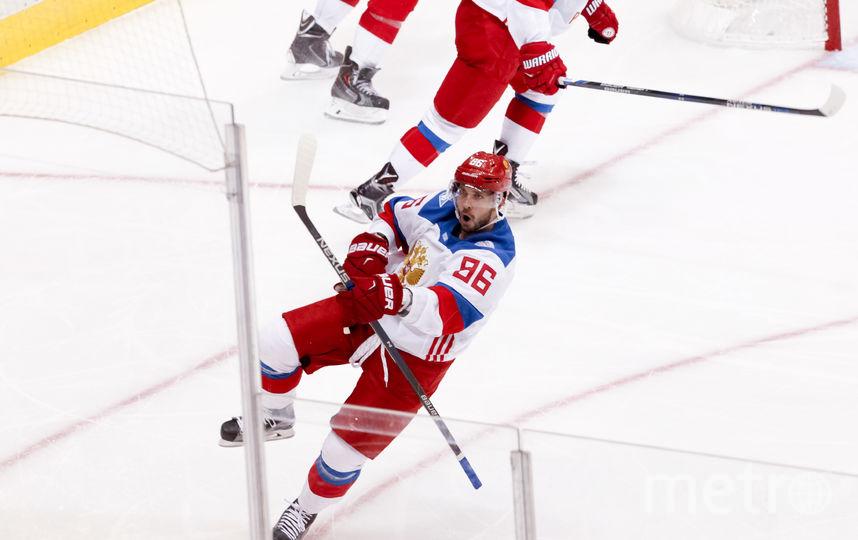 Нападающий сборной России Никита Кучеров забросил четвёртую шайбу. Фото Getty