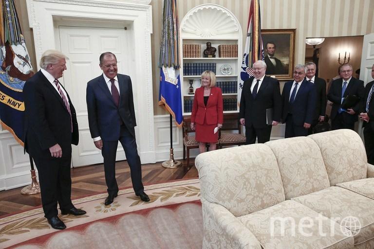 Сергей Лавров и Дональд Трамп в Белом доме. Фото AFP
