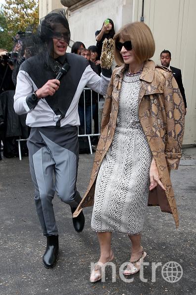 В 2015 году Седюк напал на Анну Винтур, редактора Vogue. Фото Getty