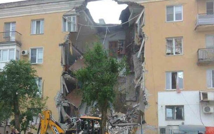 Обрушение подъезда в Волгограде. Фото все - скриншоты Instagram