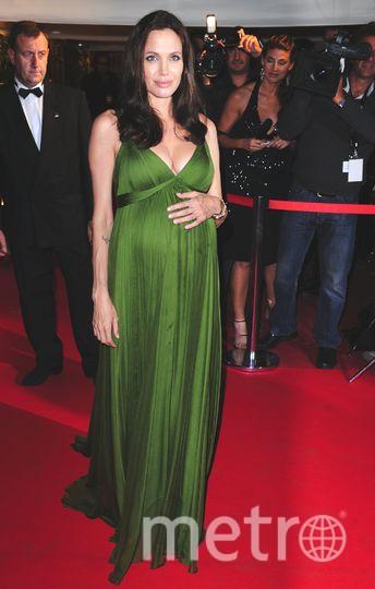 Канны. Анджелина Джоли беременна. 2008 год. Фото Getty