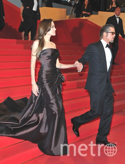 Канны. Канны. Анджелина Джоли и Брэд Питт 2011 год. Фото Getty