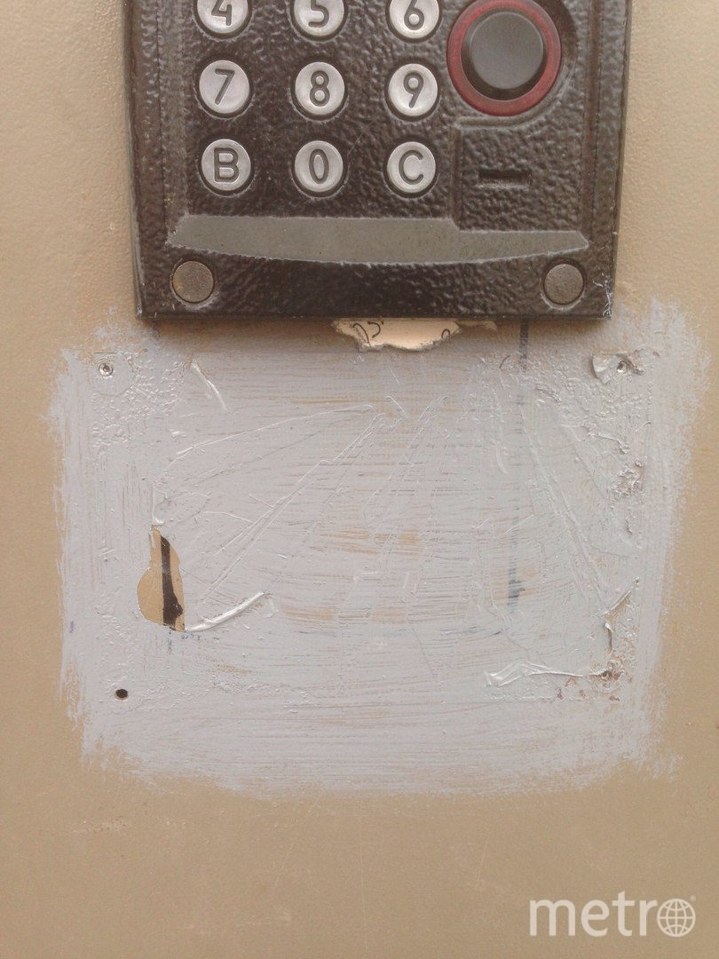 Отретушированную дверь в Петергофе закрасили хуже, чем в фотошопе. Фото Георгий Федоров, vk.com