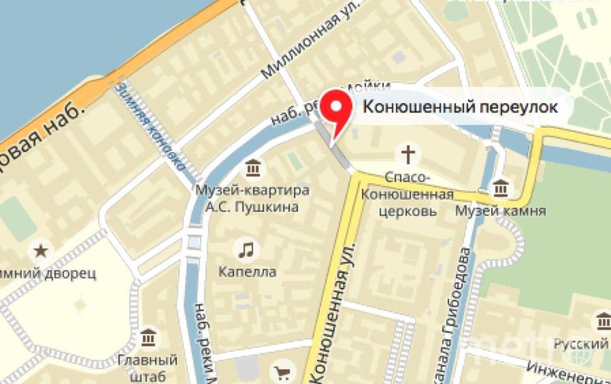Несколько улиц в центре Петербурга перекроют из-за Международного Юридического Форума. Фото Скриншот Яндекс.Карты