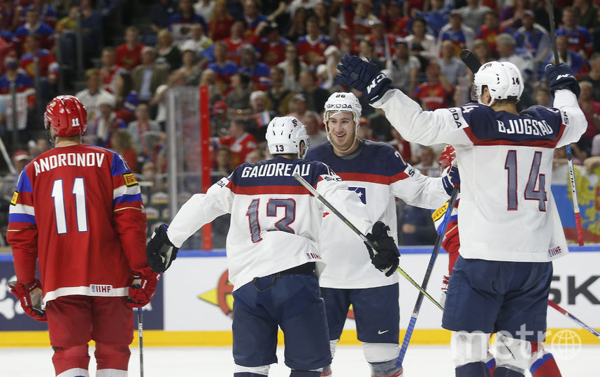 Сборная России в матче с американцами. Фото AFP