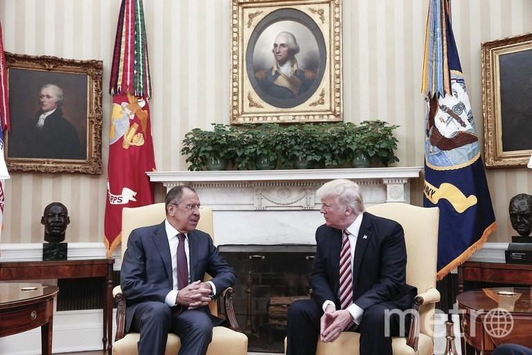 Встреча Сергея Лаврова и Дональда Трампа. Фото AFP
