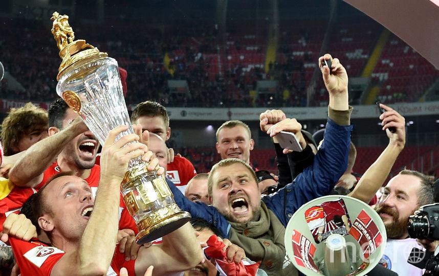 "Игроки ""Спартака"" празднуют чемпионство. Фото Getty"