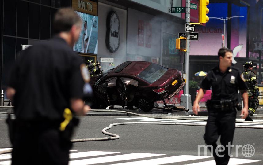 Авария на площади Таймс-сквер в Нью-Йорке. Фото AFP