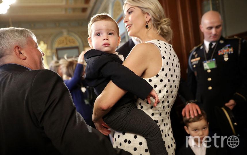 Иванка Трамп с сыном Теодором. Фото Getty