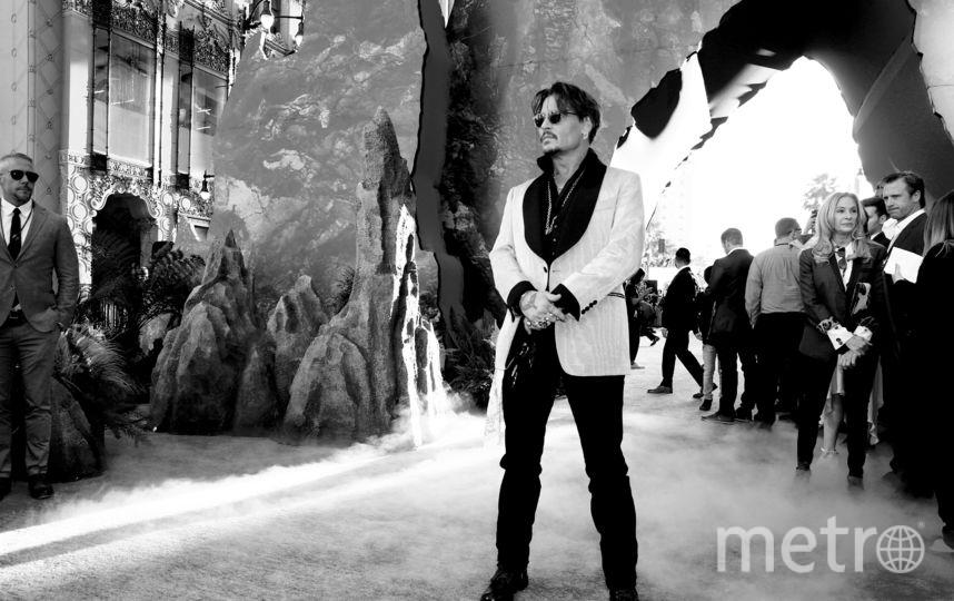 """""""Пираты Карибского моря"""": Джонни Депп на премьере фильма в Голливуде. Фото Getty"""