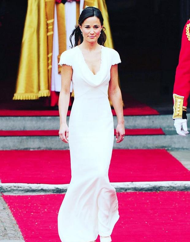 Пиппа Миддлтон на свадьбе сестры Кейт Миддлтон - фотоархив. Фото Скриншот Instagram