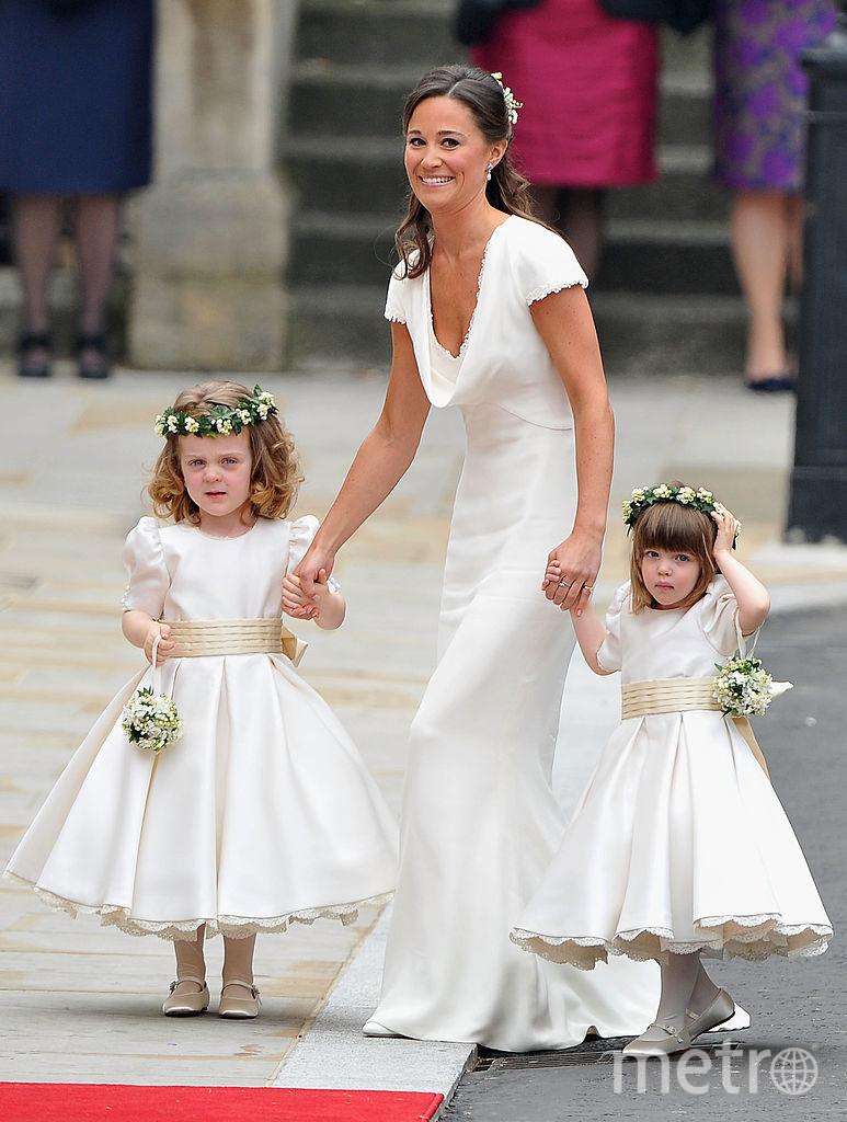 Пиппа Миддлтон на свадьбе сестры Кейт Миддлтон - фотоархив. Фото Getty