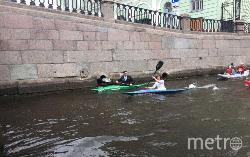 В ПЕтербурге свадьбу отметили прямо на воде. Фото Все фото предоставлены Анной Еремчук.